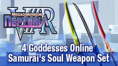 Megadimension Neptunia VIIR - 4 Goddesses Online Samurai's Soul Weapon Set