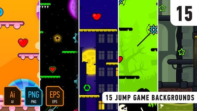 15 Jump Game Backgrounds