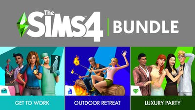 The Sims™ 4 Bundle - Get to Work, Outdoor Retreat, Luxury Party Stuff