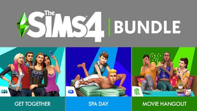 The Sims 4 Bundle - Get Together, Spa Day, Movie Hangout Stuff