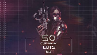 50 Cyberpunk LUTs Pack