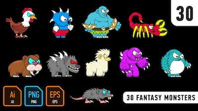 30 Fantasy Monsters