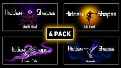 Hidden Shapes 4-pack