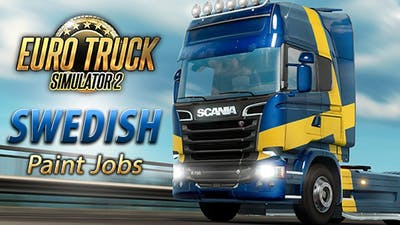 Euro Truck Simulator 2 - Swedish Paint Jobs Pack DLC