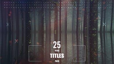 25 Vegas Animated Titles Pack