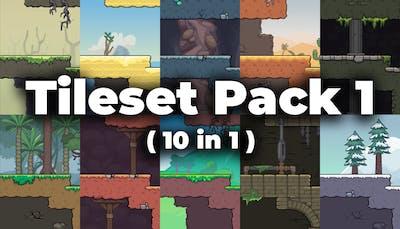 Cartoon Platformer Tileset Pack 1