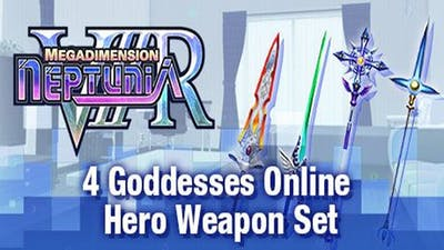 Megadimension Neptunia VIIR - 4 Goddesses Online Hero Weapon Set