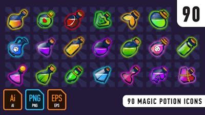 90 Magic Potion Icons