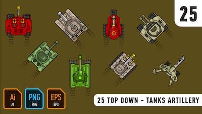 25 Top Down - Tanks Artillery