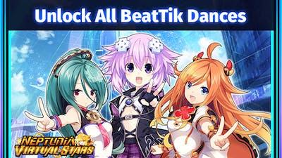 Neptunia Virtual Stars - Unlock All BeatTik Dances - DLC