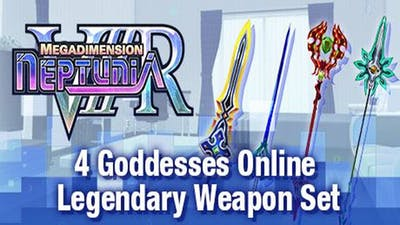 Megadimension Neptunia VIIR - 4 Goddesses Online Legendary Weapon Set - DLC