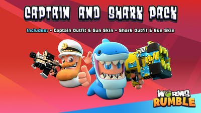Worms Rumble - Captain & Shark Double Pack