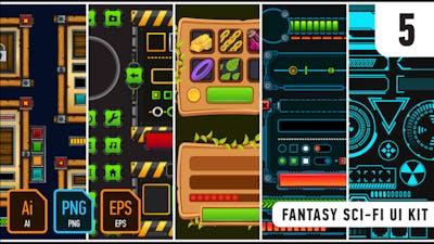 Fantasy Sci-Fi UI Kit