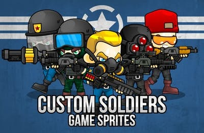 Custom Soldiers Game Sprites