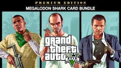 GRAND THEFT AUTO V: PREMIUM ONLINE EDITION & Megalodon Shark Card Bundle