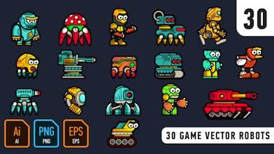 30 Game Vector Robots