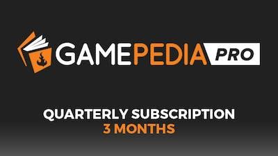 Gamepedia PRO Quarterly Subscription (3 months)